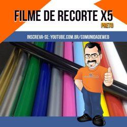 Filme de Recorte Preto  X5