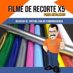 Filme de Recorte Prata Metalizado X5