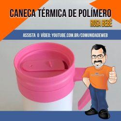Garrafa de Polímero para Sublimação Rosa