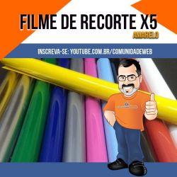 Filme de Recorte PU Amarelo X5