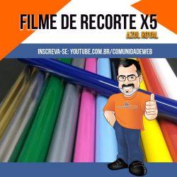 Filme de Recorte PU Azul Royal X5