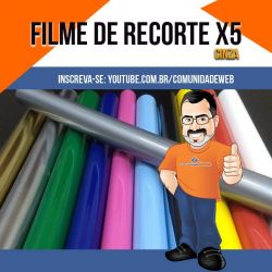 Filme de Recorte PU Cinza X5