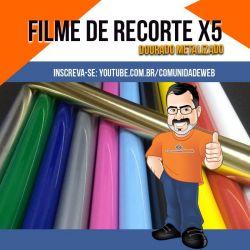 Filme de Recorte PU Ouro Metálico