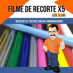 Filme de Recorte PU X5 Azul Claro