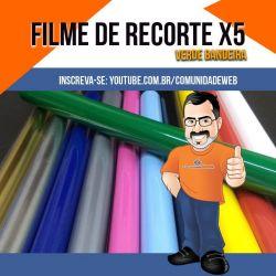 Filme de Recorte PU X5 Verde Bandeira