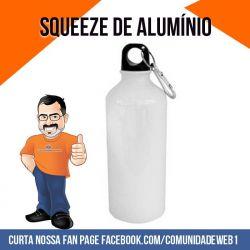 Squeeze Mosquetão de Alumínio Branco  600ml