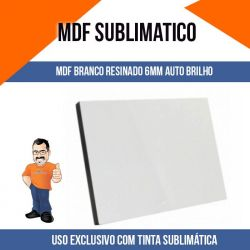 Placa de MDF 6mm Branco Auto Brilho A4 20x28cm