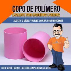 Copo de Poímero Rosa
