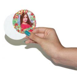 Circulo de Papel Cartão Sublimável para Esfera de Acrílico de 7cm 100 unidades